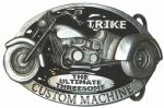 Trike The Ultimate Threesome Custom Machine (black) Belt Buckle with display stand. Code SC1